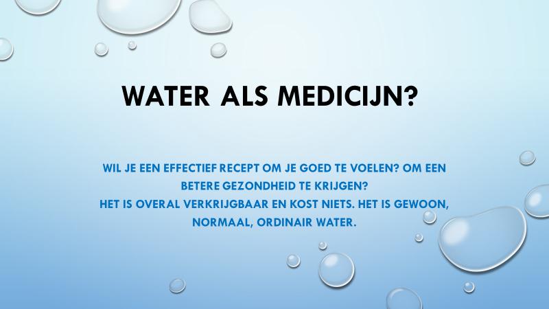 water als medicijn